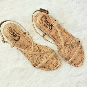 Circus by Sam Edelman Henley Flat Sandals Nude